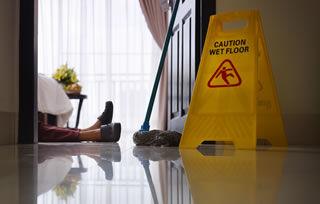 maid slipped on floor
