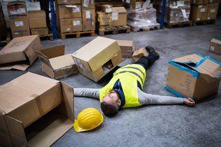 slip accident,warehouse accident,slippery floor