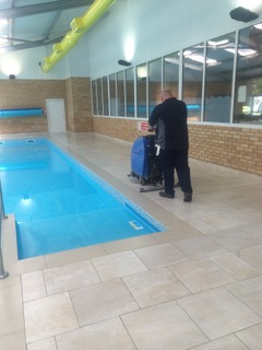 leisure centre floor cleaning